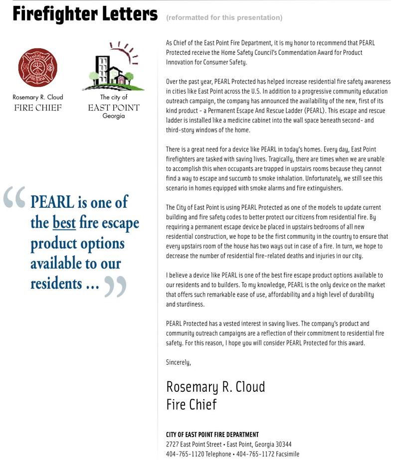 firefighter letters